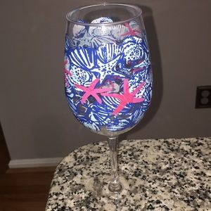 New without package Lilly Pulitzer wine glass